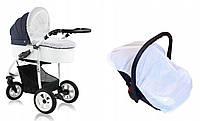Сетка от комаров и мух универсальная большая 120*60 для детской коляски люльки прогулки автокресла манежа 3966