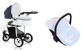 Сітка від комарів та мух універсальна велика для дитячої коляски люльки прогулянки автокрісла манежу