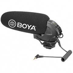 Суперкардиодный конденсаторный микрофон-пушка BOYA BY-BM3031 с регулятором мощности звука