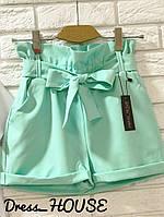 Стильные женские шорты, бирюзовые, 913-131, фото 1