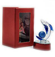Дельфин хрустальный с подсветкой (11х6,5х6 см)(8157C)