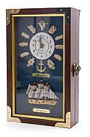 """Ключница с часами """"Морская"""" (25х15х6 см)(2561513)"""