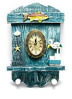 """Ключница с часами """"Морская"""" (28х19х4,5 см)(G017)"""