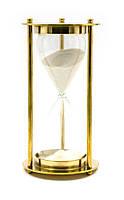 Часы песочные бронза (14,5х7,5х7,5 см)(Brass Sandtimer 5Min)