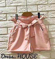 Стильные женские шорты, пудровые, 913-133, фото 1