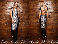 Платье Рептилия трикотаж скомбинирован с дайвинг