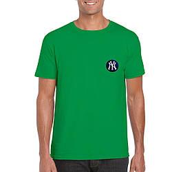 Мужская футболка New York, мужская футболка Нью Йорк, спортивная, брендовая, хлопок, зеленая, копия