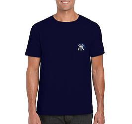 Мужская футболка New York, мужская футболка Нью Йорк, спортивная, брендовая, хлопок, синяя, копия