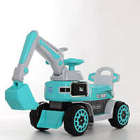 Дитяча машинка-толокар Екскаватор M 4068R-4 блакитний