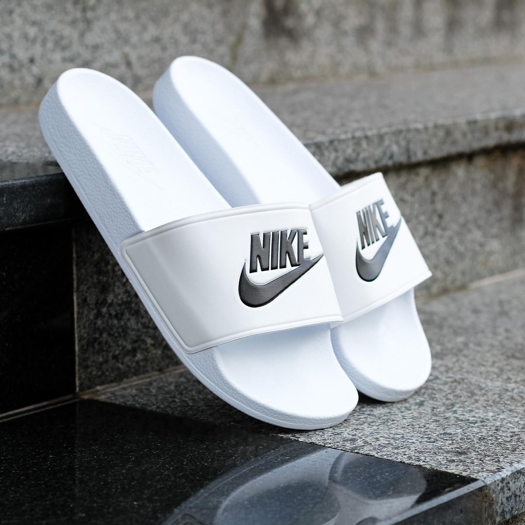 1717450a Шлепанцы мужские Nike Original - Sport, белые, в стиле Рибок, код DK ...