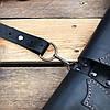 Патронташ поясной закрытый на 39 патр., двухрядный с кож. лямками. Черный (кожа), фото 9