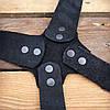 Патронташ поясной закрытый на 39 патр., двухрядный с кож. лямками. Черный (кожа), фото 8