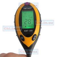 Анализатор грунта, почвы 4 в 1 AMT-300 (люксметр, влагомер, pH, термометр)