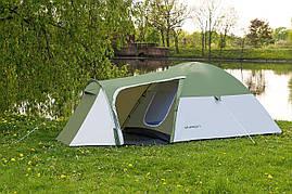 Туристическая палатка 4-х местная Monsun Pro 4, клеенные швы, зеленая, фото 3