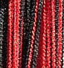 Шторы нити Спиральки Радуга № 352 (черно-красная)