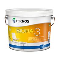 TEKNOS BIORA 3 Совершенно матовая краска для грунтовки и потолков Белая 2,7л