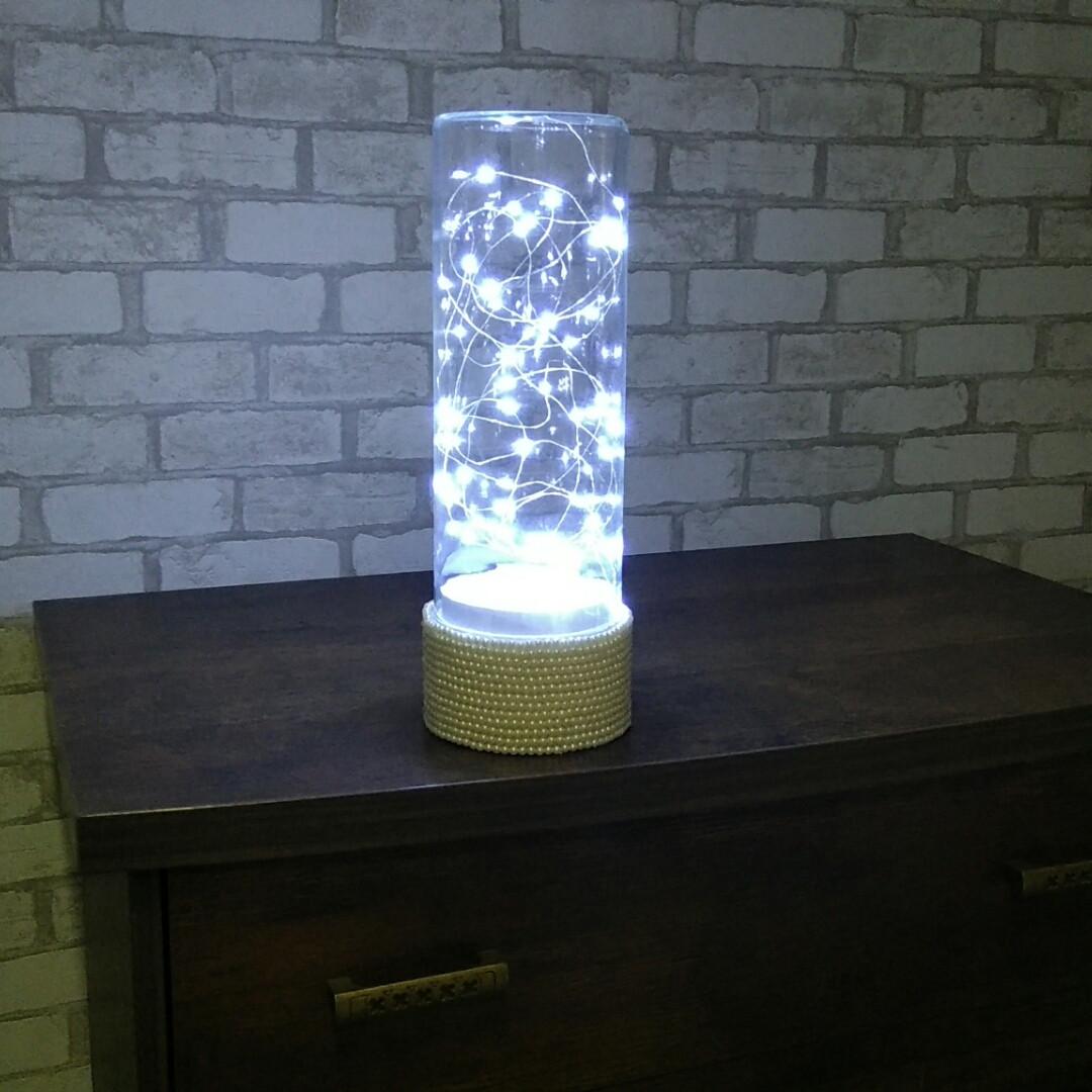Led Светильник c жемчугом декоративным белый холодный