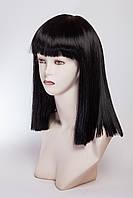 Длинный ровный парик №12,цвет черный натуральный