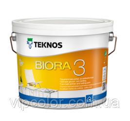 TEKNOS BIORA 3 Матовая краска для внутренних работ Белая 9 л