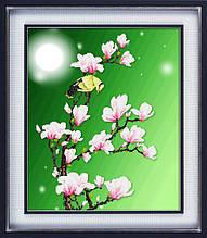 """Набор для рисования камнями 5D (частичная выкладка на холсте) """"Лунная ночь"""" LasKo"""