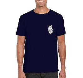 Мужская футболка Rip n Dip, мужская футболка Рип н Дип, спортивная, брендовая, хлопок, синяя, копия