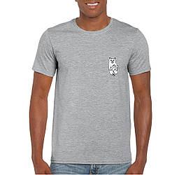 Мужская футболка Rip n Dip, мужская футболка Рип н Дип, спортивная, брендовая, хлопок, серая, копия