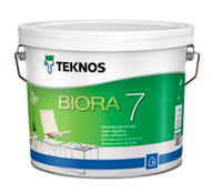 TEKNOS BIORA 7 Водоразбавляемая матовая краска для стен База 3 2,7л