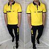 Мужской летний спортивный костюм: штаны и футболка поло, реплика Найк, фото 2