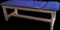Массажная кушетка стационарная деревянная PR_006 Синий