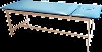 Массажная кушетка стационарная деревянная PR_006 Голубой