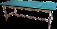 Массажная кушетка стационарная деревянная PR_006 Бирюзовый