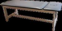 Массажная кушетка стационарная деревянная PR_006 Серый