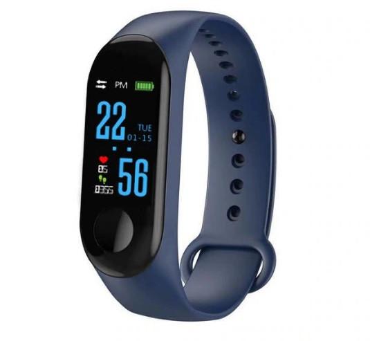 Фитнес браслет с измерением пульса и давления Smart band M3 Blue