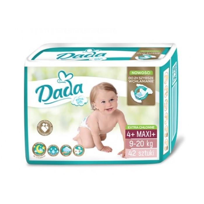 Подгузники Dada Premium 4+ (9-20 кг) - 42 шт.