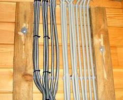 Монтаж кабеля, по дереву