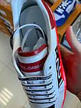Трендовые Мужские Кроссовки Dolce Gabbana белые Качество Премиум Молодежные Дольче Габбана реплика 40-45рр, фото 6