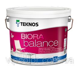 TEKNOS BIORA BALANCE Матовая акрилатная краска для стен База 3 9 л