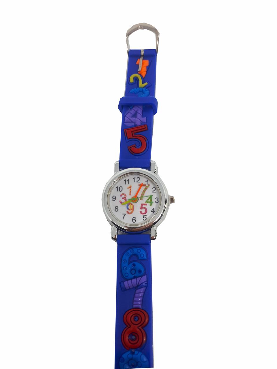 Часы детские  Математика синий