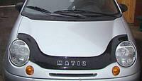 Дефлектор капота (мухобойка) Daewoo Matiz 1998- с заходом на фары, Vip Tuning, DW01