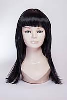 Длинный ровный парик №15,цвет черный