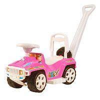 """Детская машинка-каталка (толокар) Орион """"Ориончик"""" с ручкой, розовый"""