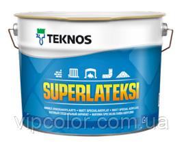 TEKNOS SUPERLATEKSI Акрилатная матовая краска для стен База 1 9 л