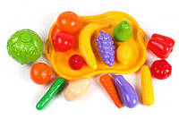 Набор фруктов и овощей, с подносом (16 эл) 5347