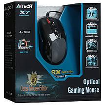 Игровая мышка A4Tech X7 X-710BK USB геймерская мышь а4теч oscar Х7 для компьютера, пк, ноутбука, фото 3