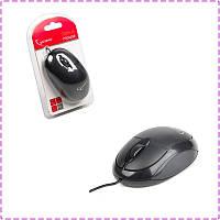 Мышь Gembird MUS-U-01, USB, черный цвет, мышка