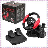 Игровой руль для ПК Gembird STR-MV-02, руль с педалями и коробкой передач для компьютера