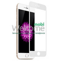 Защитное стекло iPhone 6,6S (0.3 мм, 3D, белое, полное,с олеофобным покрытием, и покрытием Silk Screen) Айфон 6