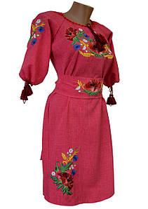 Сукня жіноча вишита Льон Вишиванка з поясом р. 48 - 60
