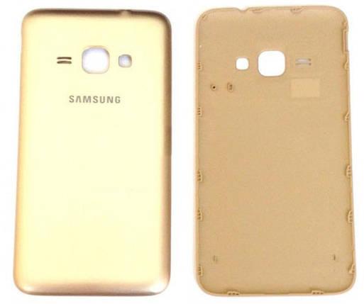 Задняя крышка Samsung Galaxy J1 (J120, 2016) gold, сменная панель самсунг, фото 2