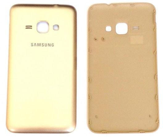 Задняя крышка Samsung Galaxy J1 (J120, 2016) gold, сменная панель самсунг